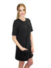 Charcoal Spacedye Pocket Shift Dress