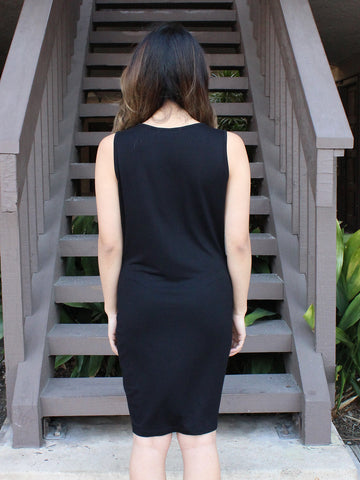 Ruched Twisted Knit Dress