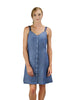 CHAMBRAY GROMMET DETAIL DRESS