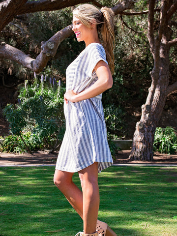 Easy Breezy Striped Boardwalk Dress