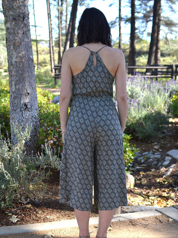 Diamond Print Jumpsuit