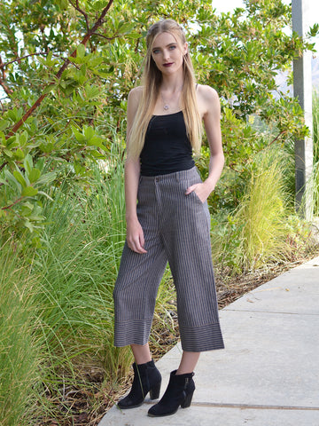 Railroad Striped Culottes