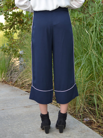 Soft Navy Blue Culottes