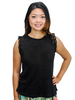 Relished Black Linen Lace Knit Top