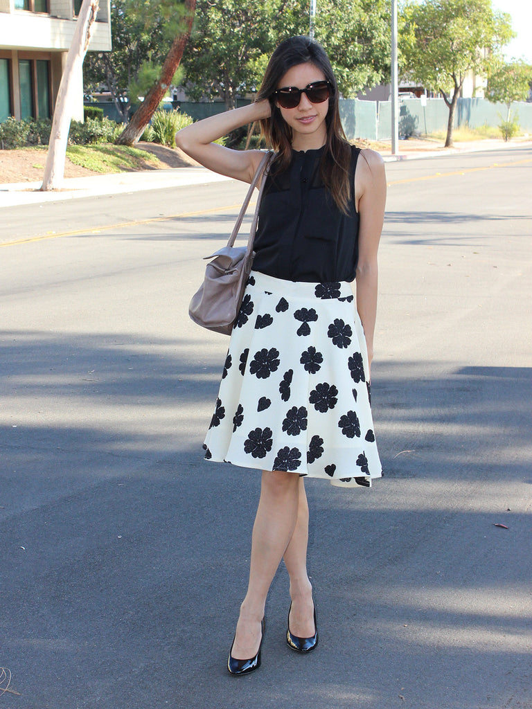Relished Lucy Cream Swing Skirt