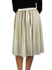 Cream/Brown Striped Chiffon Skirt