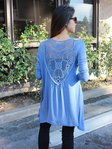 Relished Dreamcatcher Light Blue Cardigan