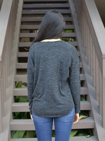Charcoal Dolman Sweater