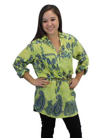 Lime-Lit Rosemary Tunic
