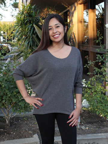 Grey Dolman Top