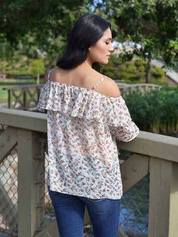 Floaty Floral Off-Shoulder Top