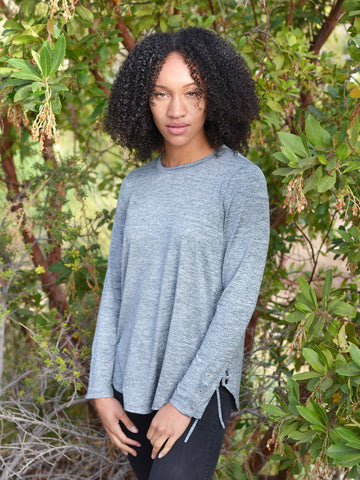 Grey Side Lace Up Detail Sweatshirt