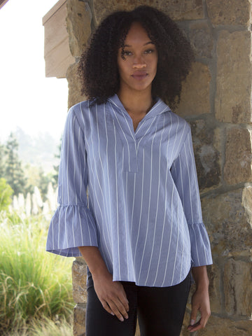 Blue Bell Sleeve Shirt
