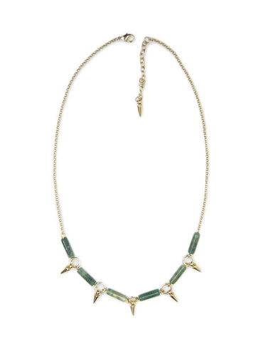 Jade and Spikes Necklace