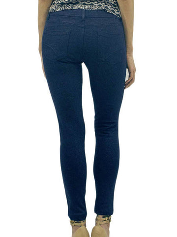 Navy Jacquard Stretch Jeggings