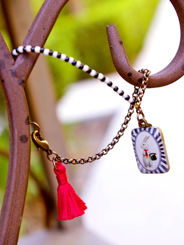 Follow the White Rabbit Bracelet
