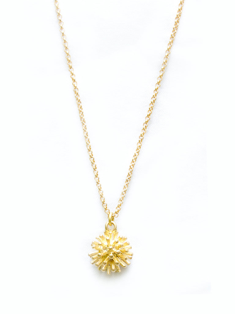 Golden Pom Pom Necklace
