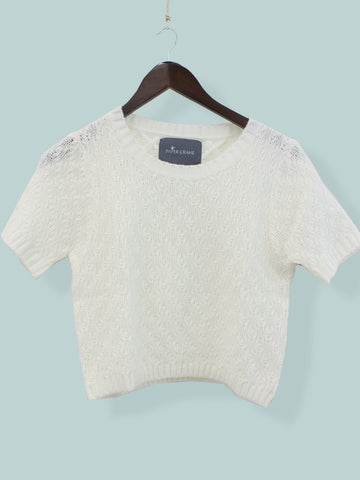 Snowflake Knit Crop Top