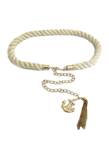 Thick Braided Rope & Anchor Belt