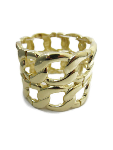 Linked Gold Bangle