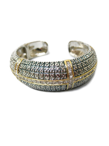 Cleopatra Crossing Rhinestone Bangle
