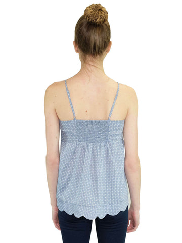 Relished Jacqueline Chambray Baby Doll Top