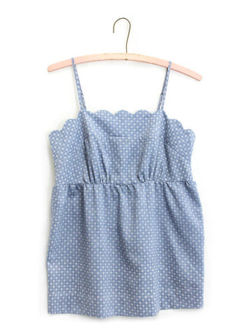 Relished Chambray Baby Doll Top