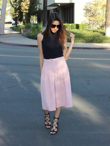Relished Avery Pink Culotte