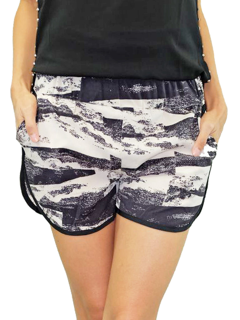 Los Angeles Hills Graphic Print Sportif Shorts