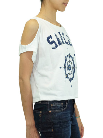 Sailor Shoulder Cut-Out Top