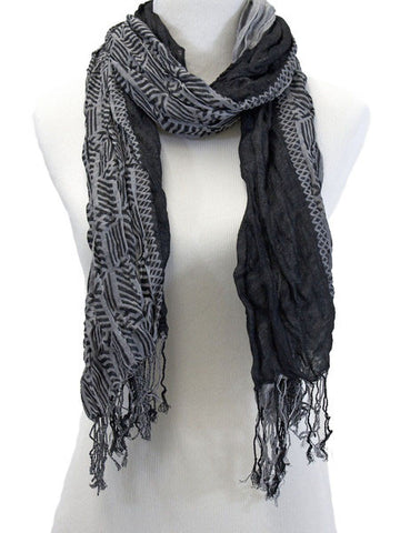 Charcoal Twisted Scarf