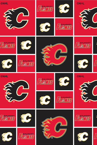 NHL Quilting Cotton Calgary Flames