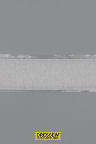 "Stick-On Loop Tape 25mm (1"") White"