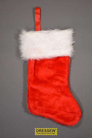 "Deluxe Plush Stocking 40cm (16"") Red"