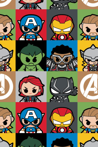 Marvel Kawaii II Mini Hero Blocks Multi
