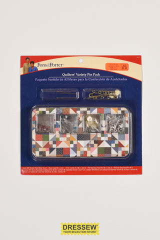 Fons & Porter Quilters Variety Pin Pack - 240 pieces