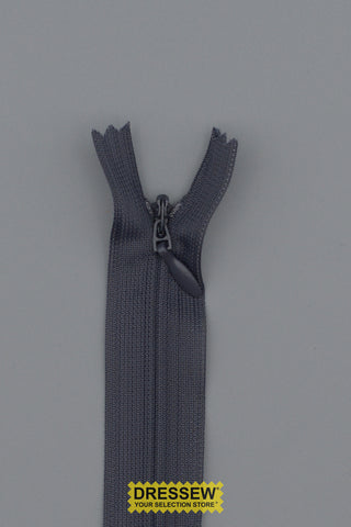 "Invisible Closed End Zipper 20cm (8"") Dark Grey"