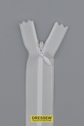 "Invisible Closed End Zipper 20cm (8"") White"