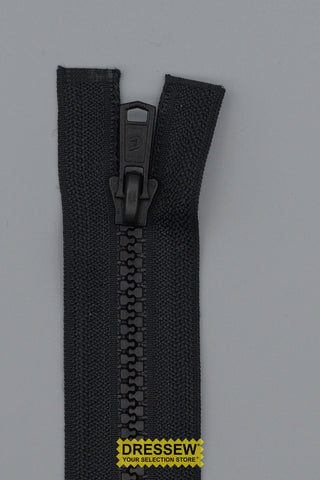 "#5 Medium Vislon 2-Way Separating Zipper 95cm (38"") Black"