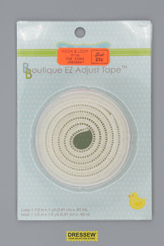 "Babyville Hook & Loop Tape 38mm (1-1/2"") White"