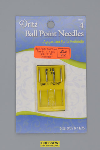 Ball Point Machine Needles Size 9-11
