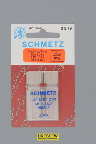 Schmetz Metallica Twin Needles Size 3.0/90
