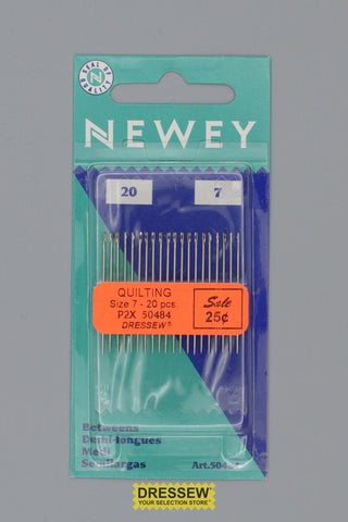 Quilting Hand Needles Size 7