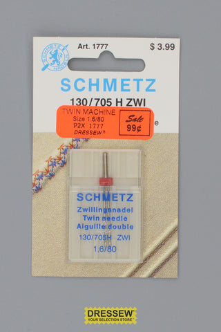 Schmetz Twin Needles Size 1.6/80