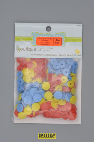 "Babyville Boutique Snaps 12mm (1/2"") Monsters"