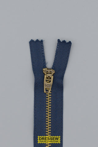 "Metal Closed End Zipper 8cm (3"") Navy"