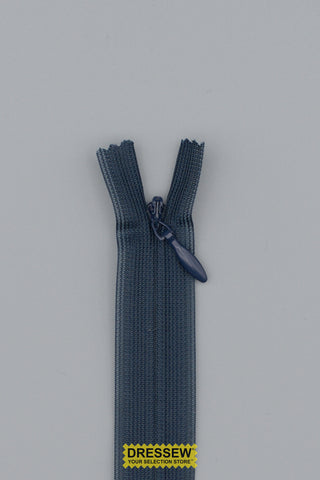 "Invisible Closed End Zipper 23cm (9"") Navy"