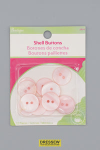 "Shell Buttons 18mm - 3/4"" Lt. Pink"
