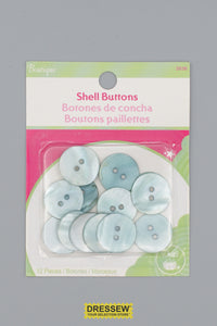 "Shell Buttons 18mm - 3/4"" Ocean"