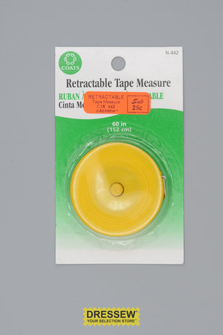 "Retractable Tape Measure 150cm (60"")"